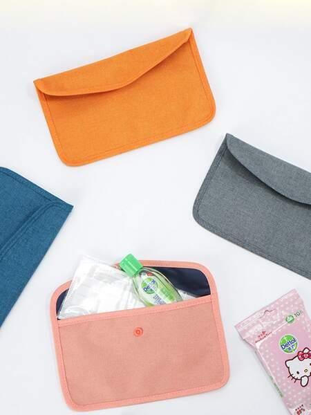1pc Random Color Face Cover Storage Bag