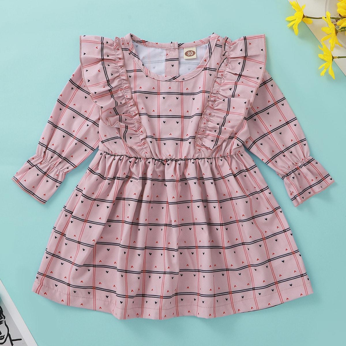 shein Casual Gevlochten Baby-jurk Rimpeling