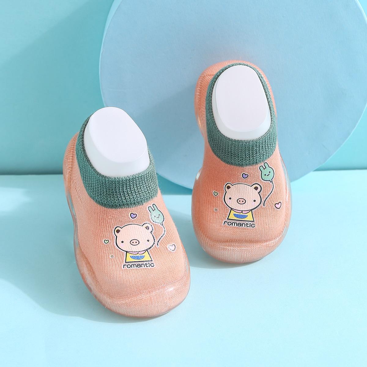shein Baby meisje cartoon graphics sokken sneakers