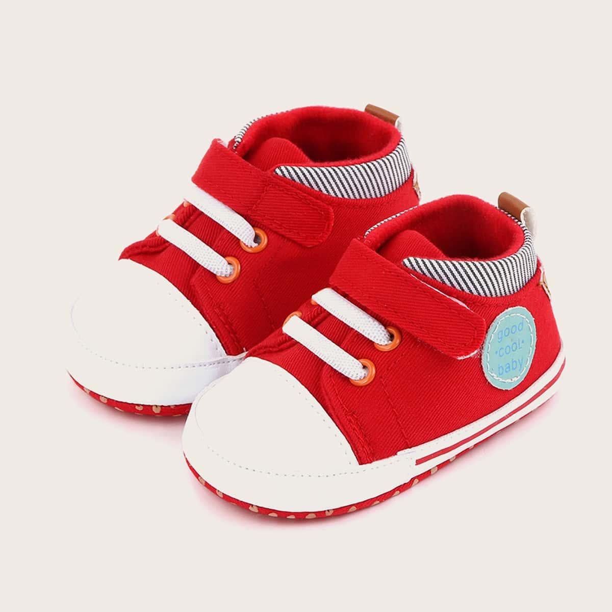 shein Sneakers met klittenbandband voor babymeisje