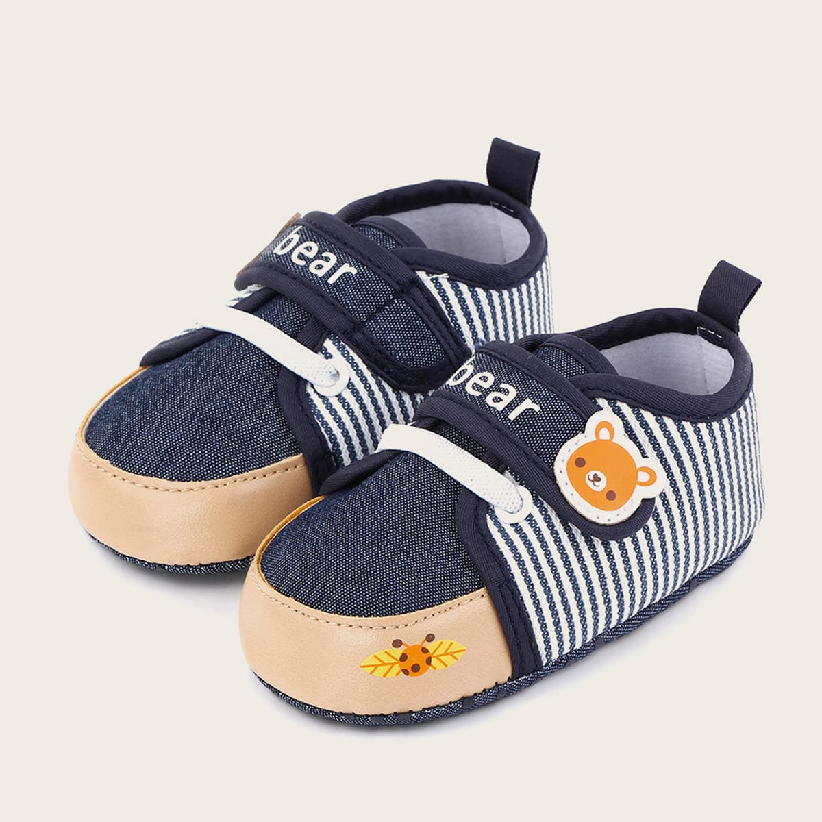 shein Baby Boy Cartoon Graphic Velcro Strap Flats