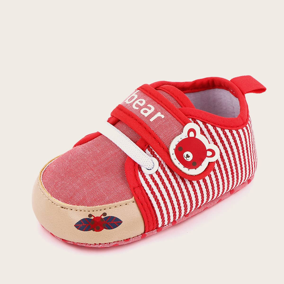 shein Baby Girl Cartoon Graphic Velcro Strap Flats