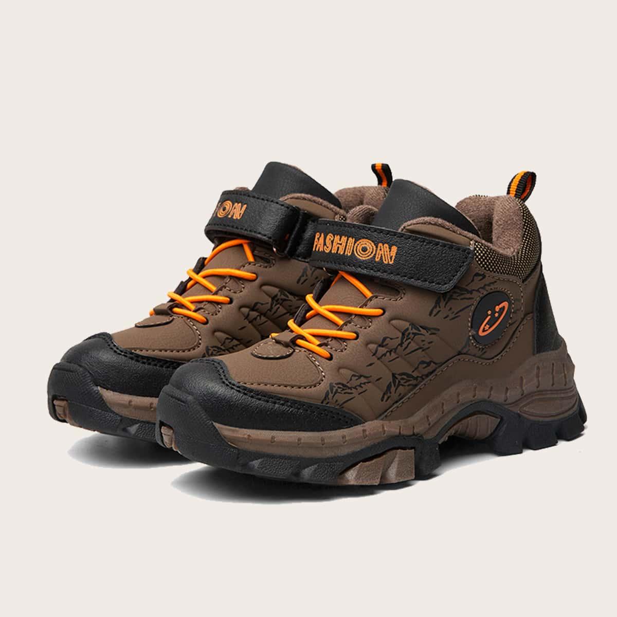 Нескользящие теплые походные кроссовки для мальчиков от SHEIN