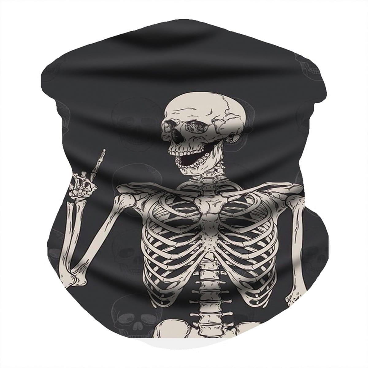 shein Skeletpatroon zonbescherming voor het gezicht