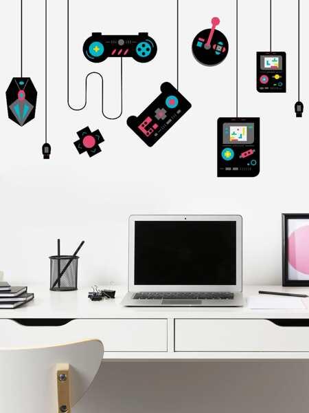 Gamepad Print Wall Sticker