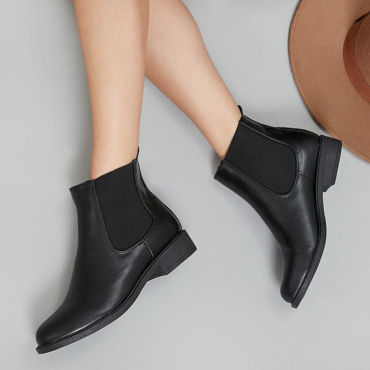 SHEIN / Chelsea Stiefel mit Zehenpartie