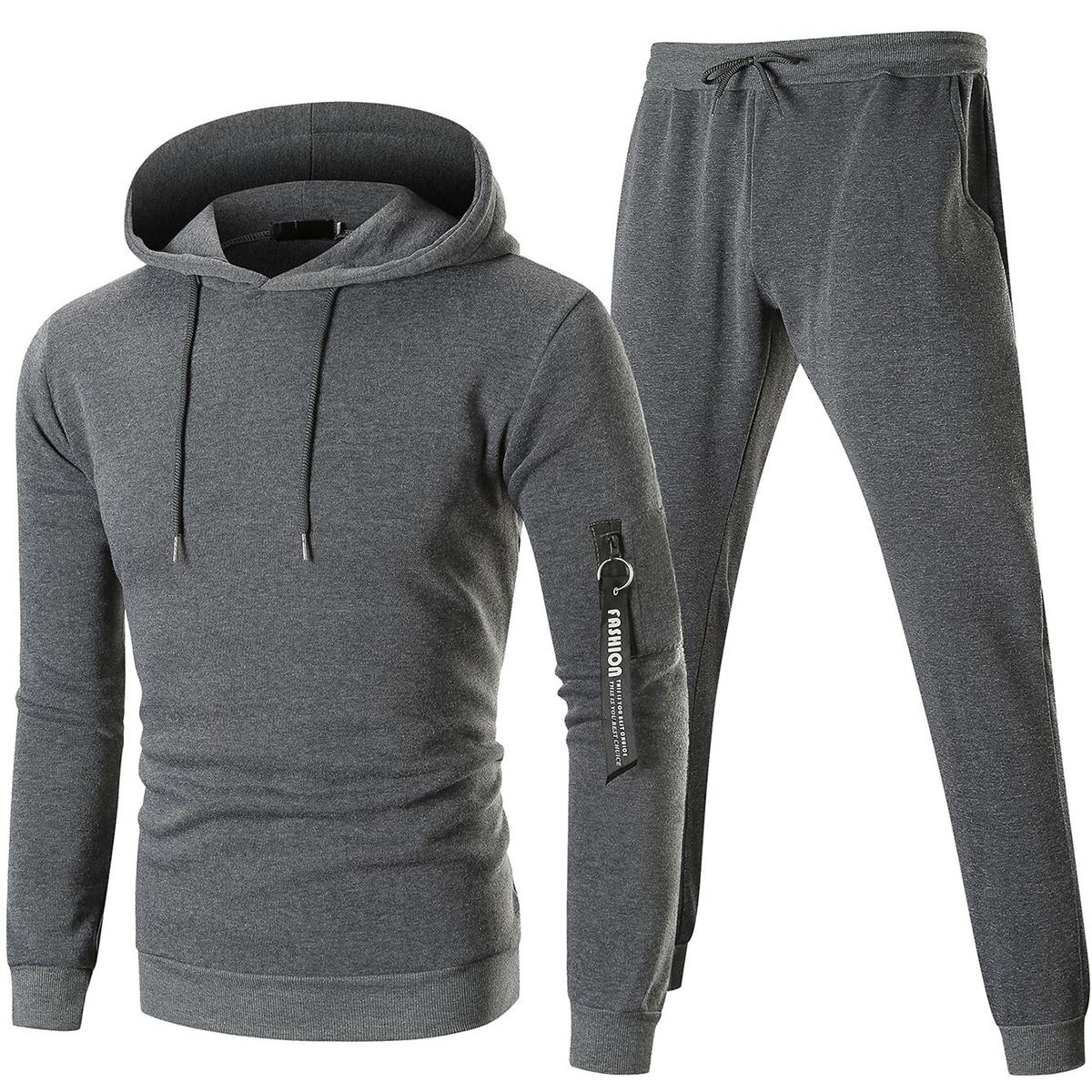 Мужские спортивные брюки и толстовка с камуфляжным принтом от SHEIN