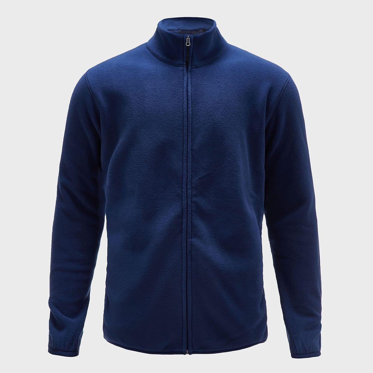 Мужская однотонная спортивная куртка на молнии