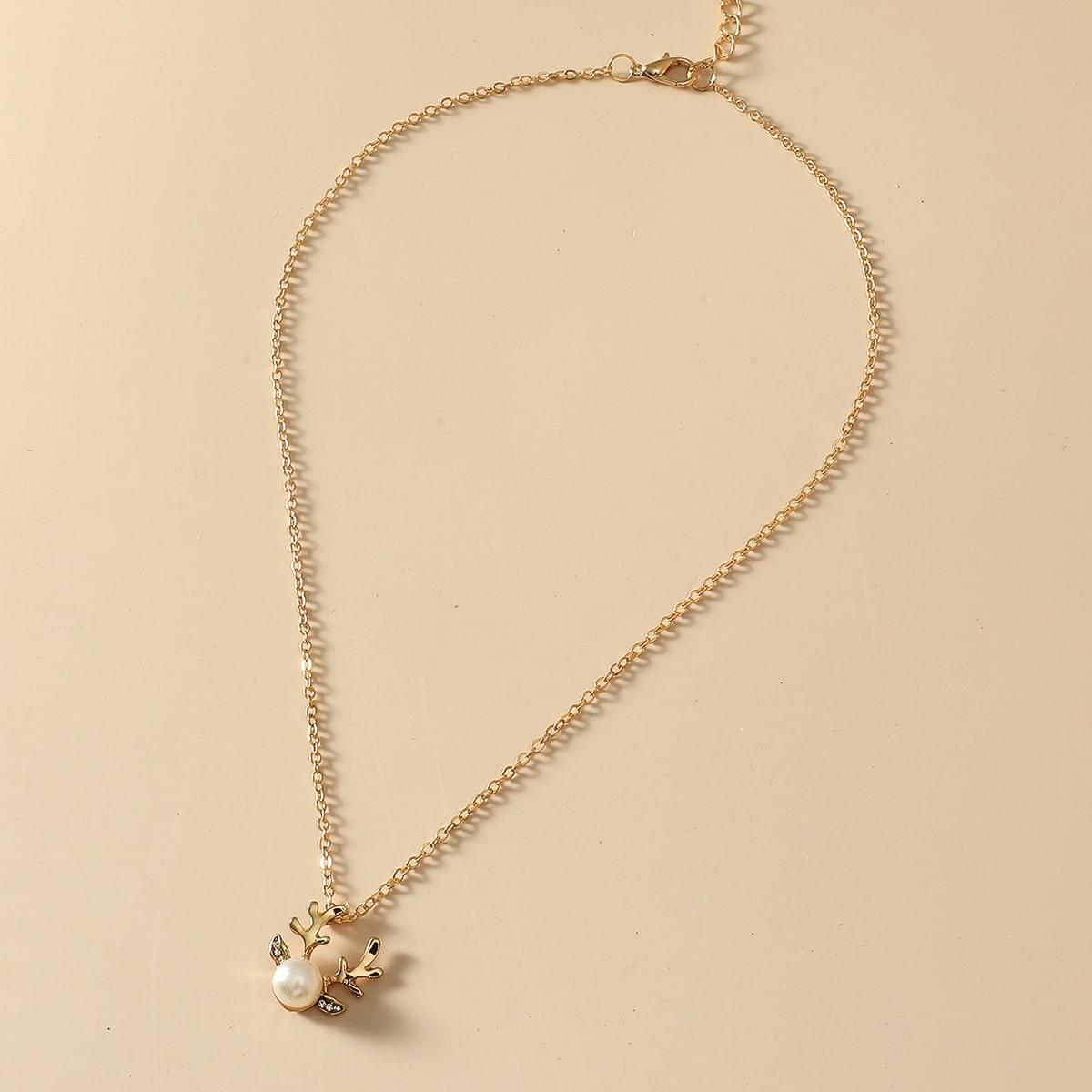 SHEIN / Halskette mit Weihnachten Hirsch Dekor