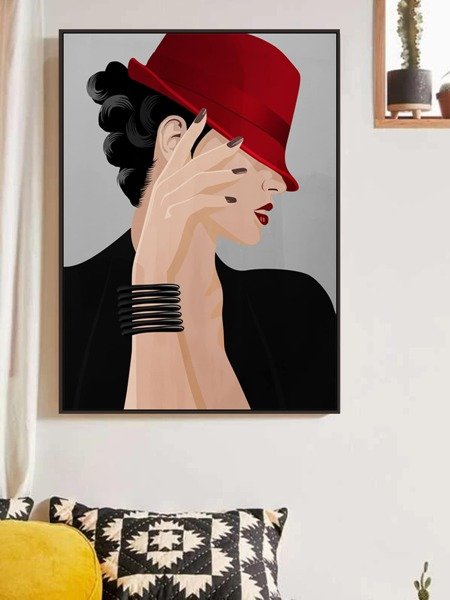 Figure Graphic Wall Painting Without Frame