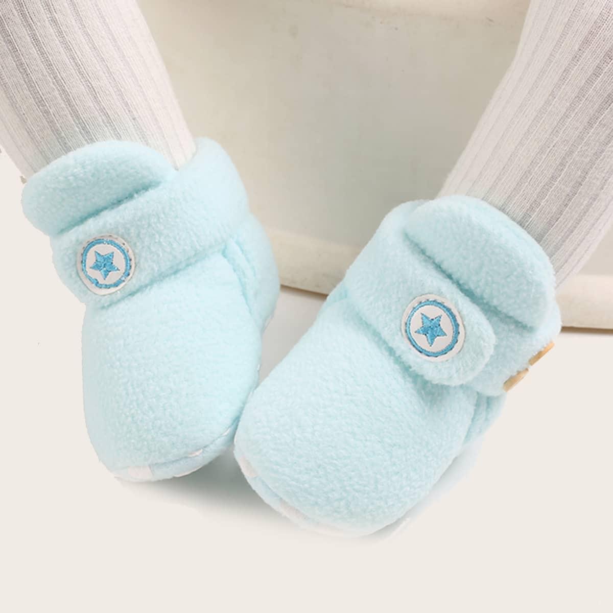 shein Geborduurde enkellaarsjes voor babyjongens