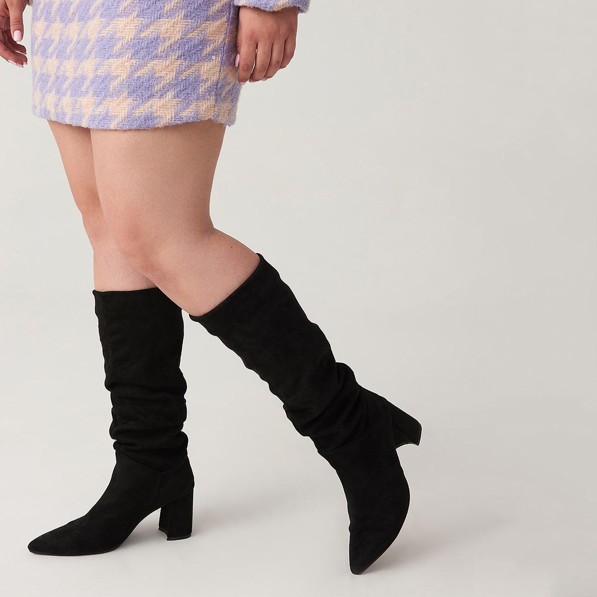 SHEIN / Stiefel mit spitzer Zehenpartie und Rüschen