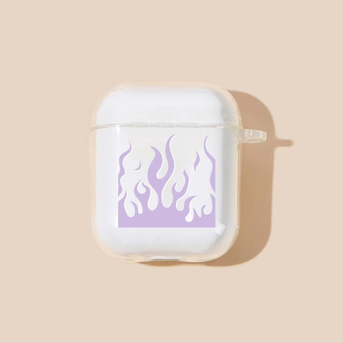 SHEIN / Transparente Airpods Hülle mit Feuer Muster