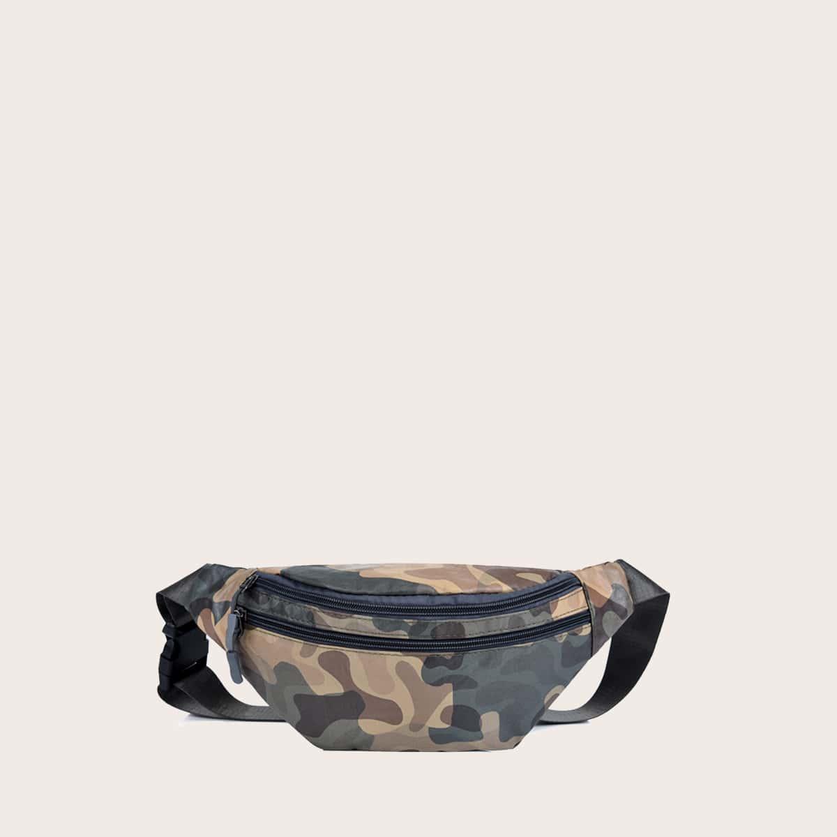 shein Verstelbaar Camouflage Heuptas