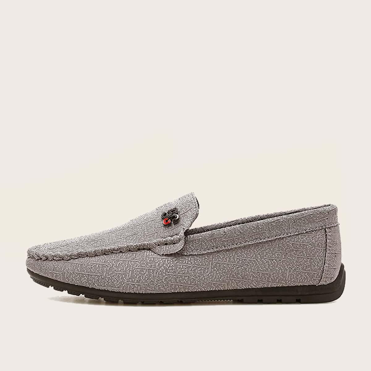 shein Metallic loafers voor heren