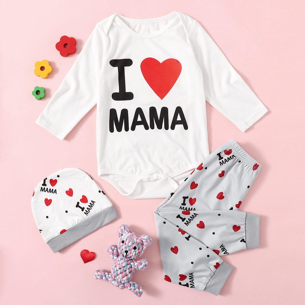 shein Casual Slogan Baby-setjes