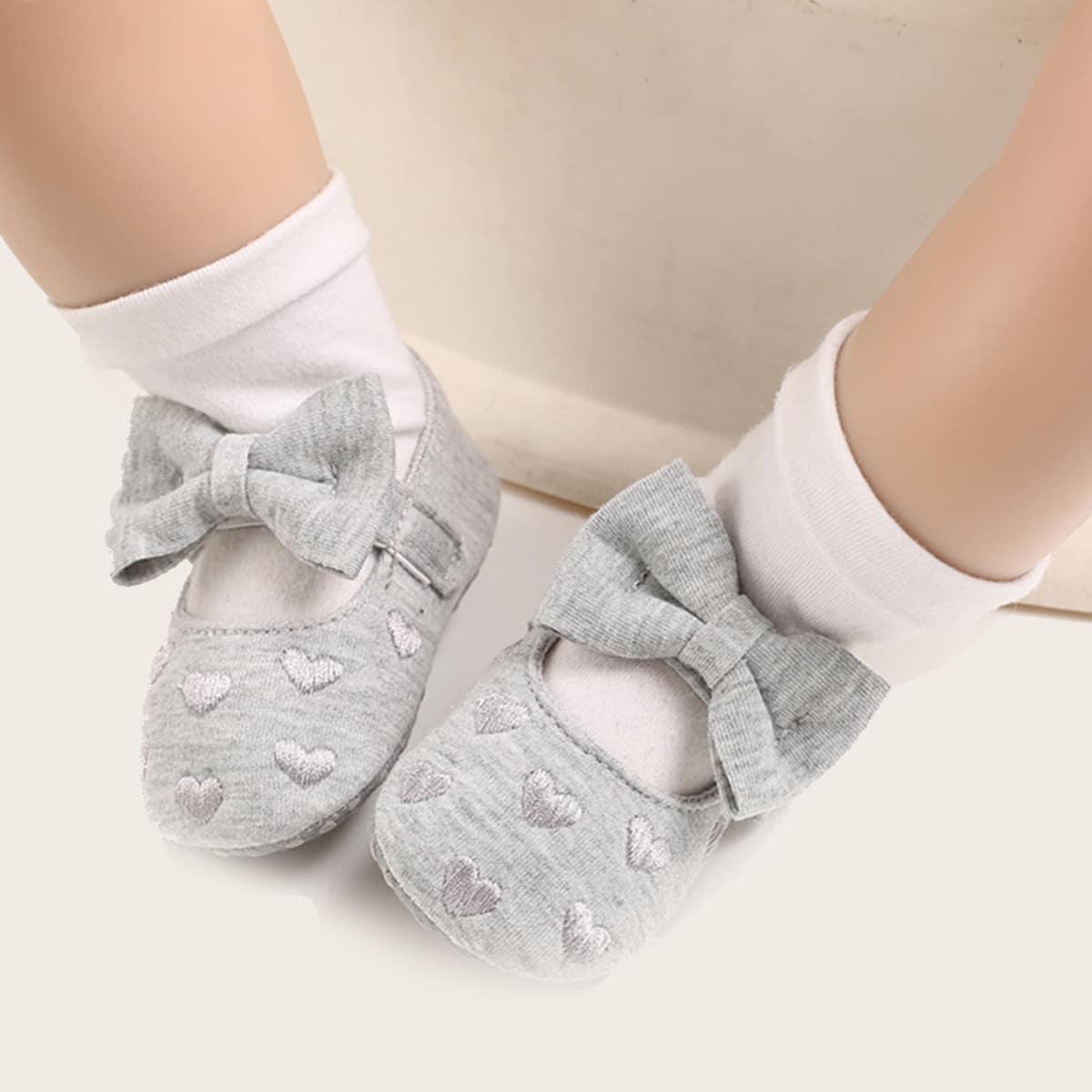 shein Mary Jane Hart Baby platte schoentjes Boog