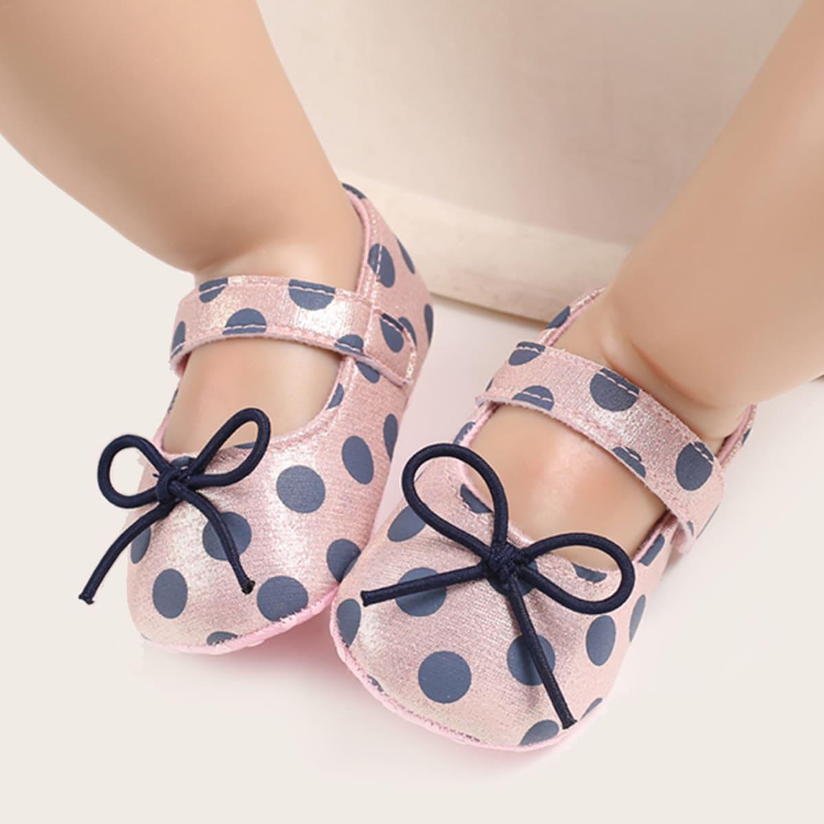 shein Mary Jane Stippen Baby platte schoentjes Boog