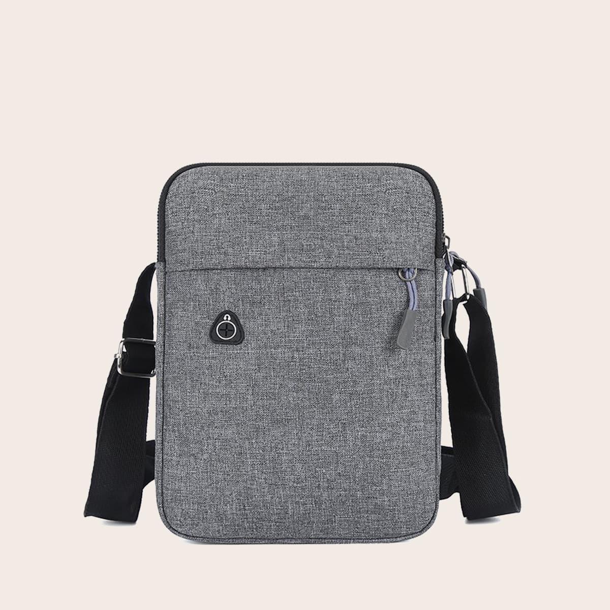 shein Verstelbaar Vlak Crossbody tas voor man