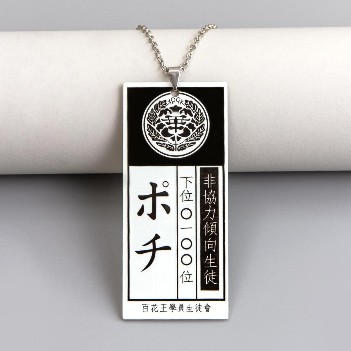 Мужское ожерелье с японскими буквами от SHEIN