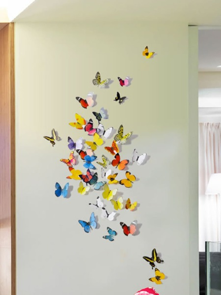 1set Butterfly Design Wall Sticker