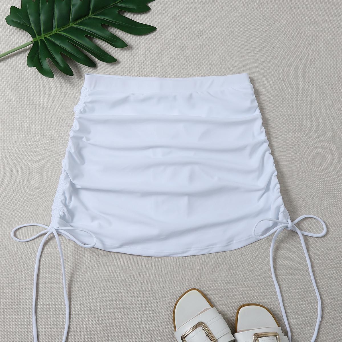 SHEIN / Tie Side Bikini Skort