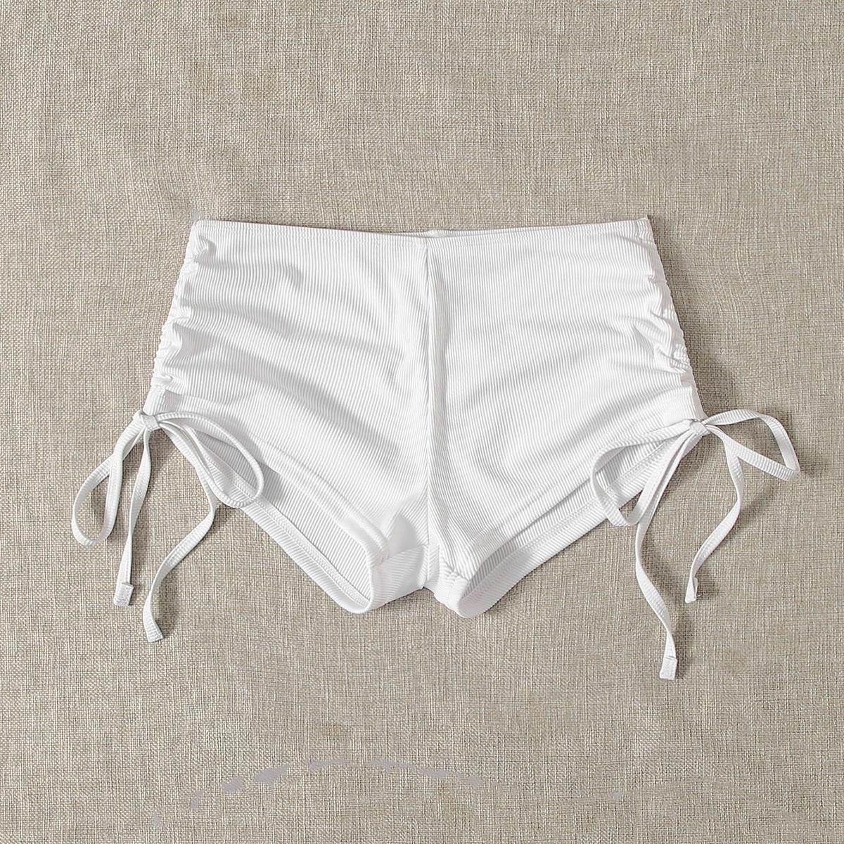 shein Sport Vlak Bikini bottom Geknoopt