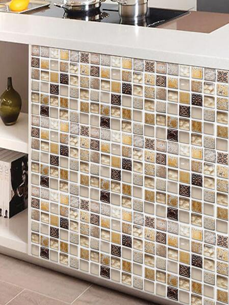 6sheets Mosaic Pattern Tile Sticker