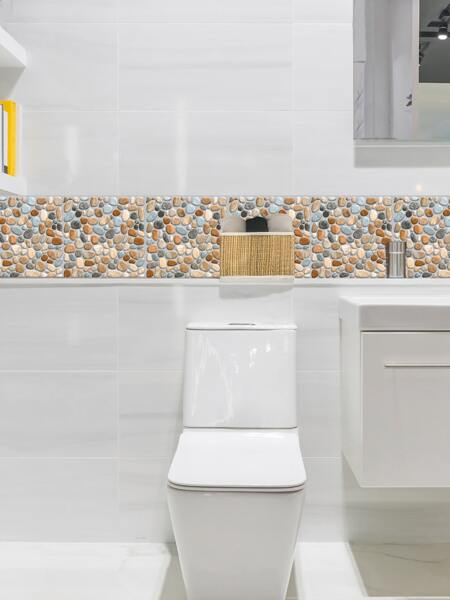 6sheets Stone Print Tile Sticker