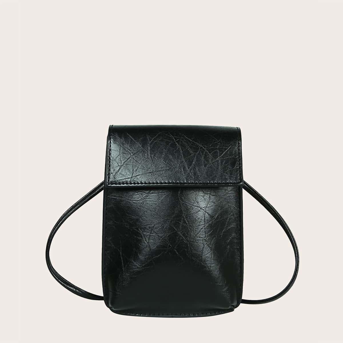 shein Eenvoudige messengertas met klep