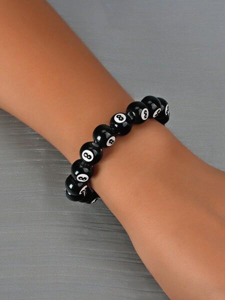 Number Design Beaded Bracelet