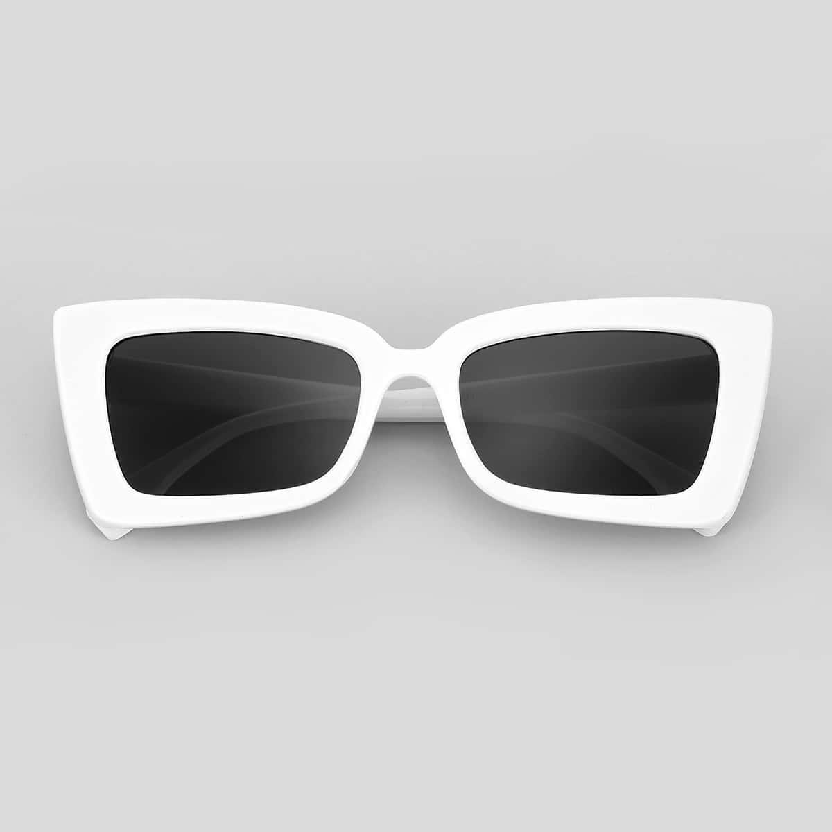 shein Heren tweekleurige zonnebril