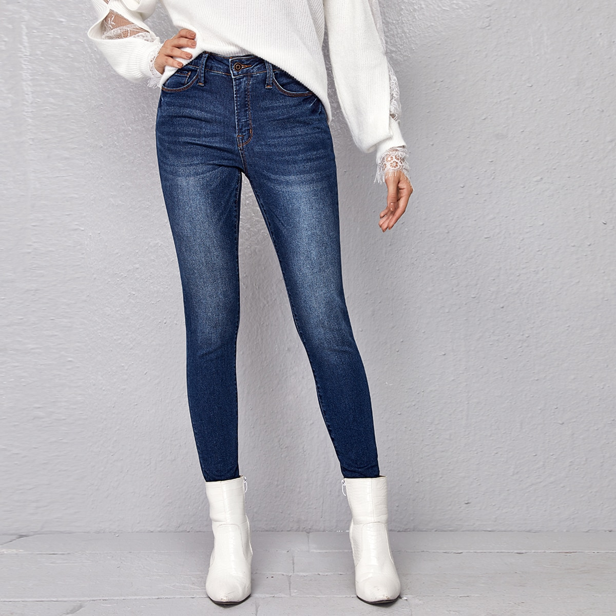 Модные джинсы скинни