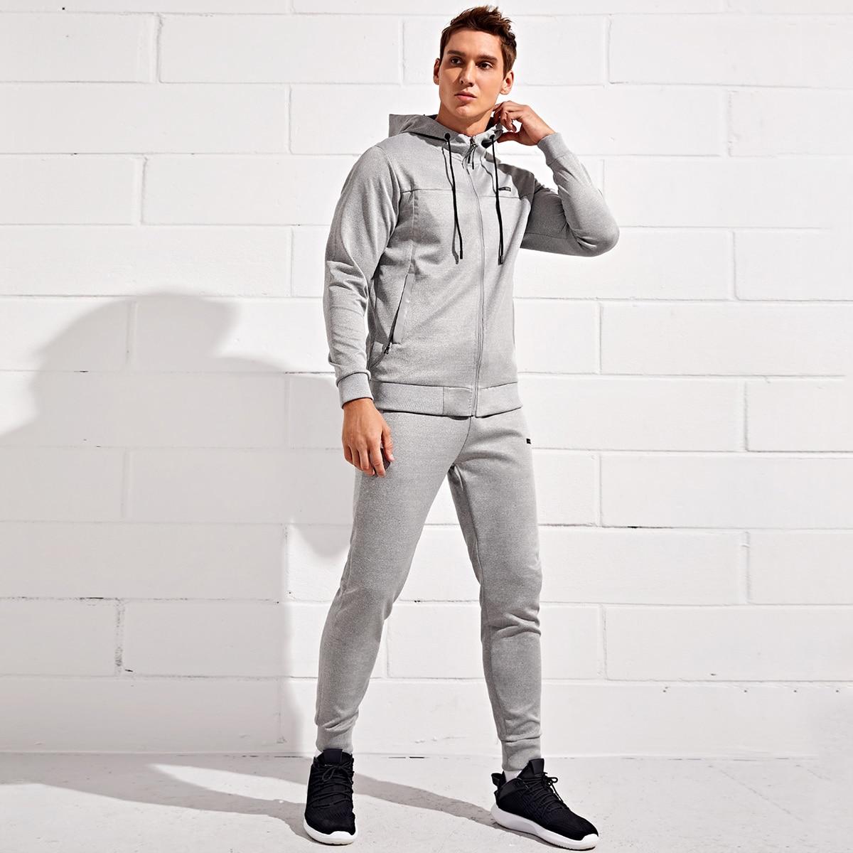 Мужские спортивные брюки и толстовка на молнии