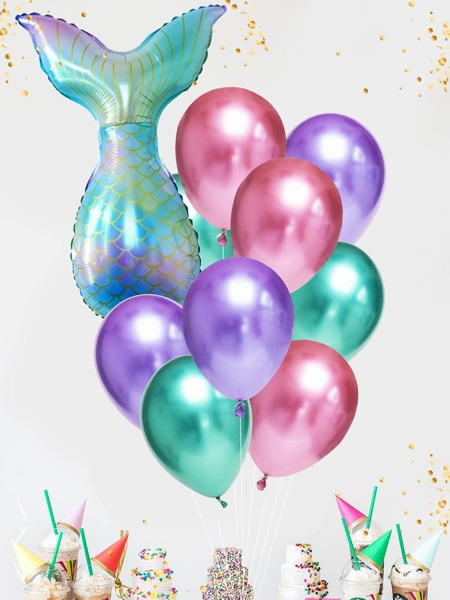 12pcs Mermaid Tail Balloon Set