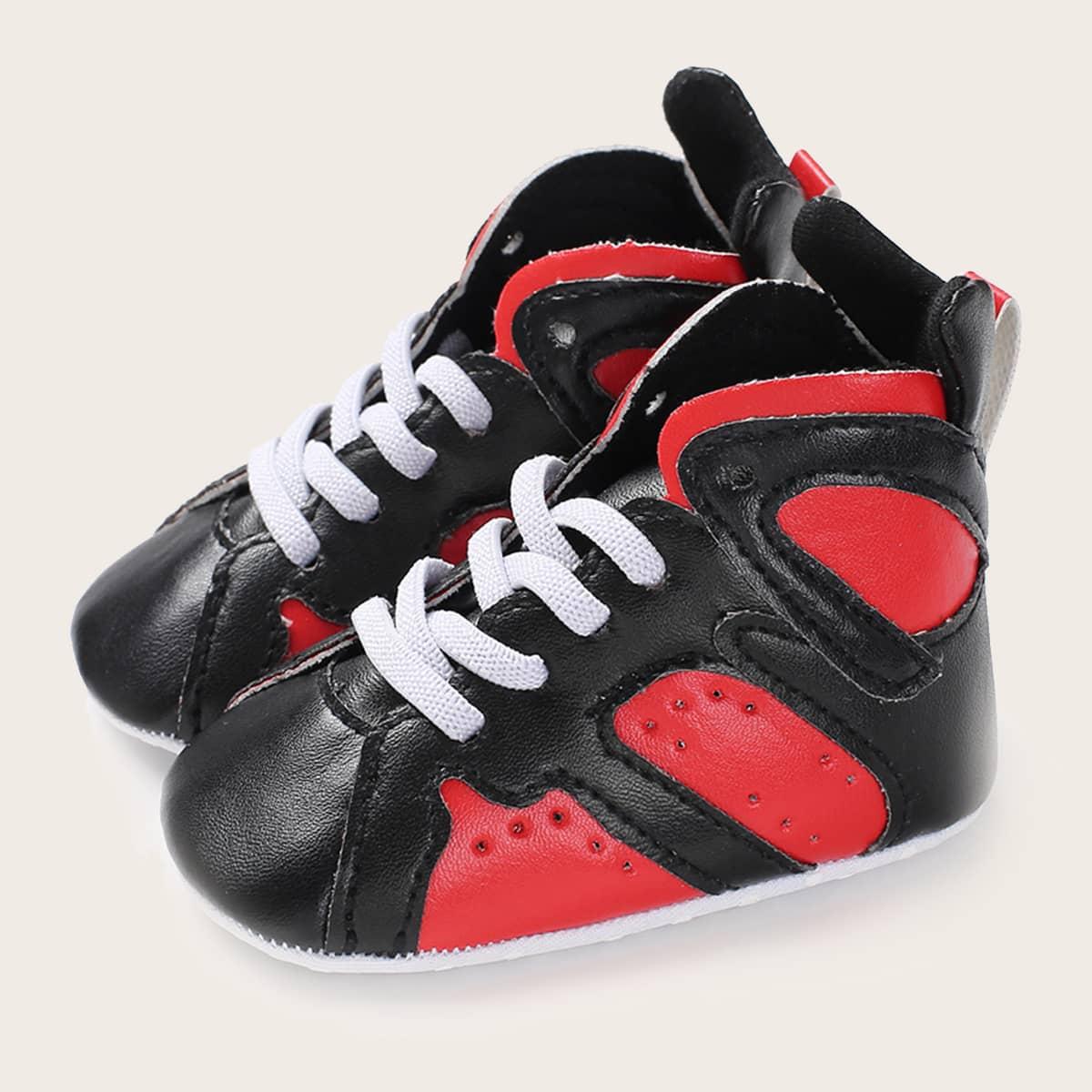 shein Kant Kleurblok Baby sneaker