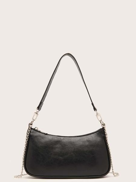 Minimalist Chain Baguette Bag