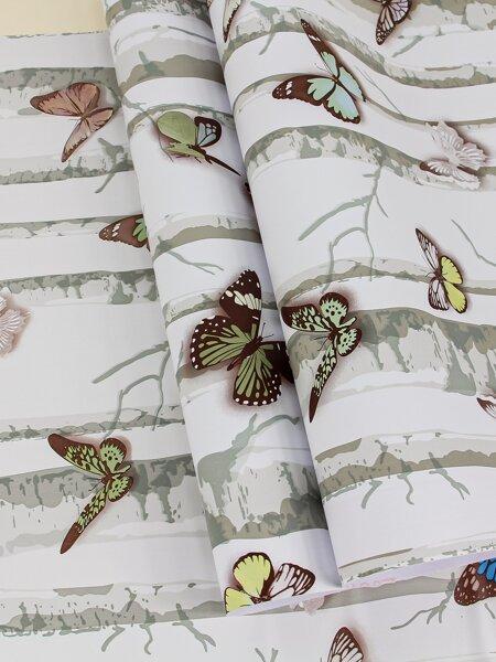 1sheet Butterfly Print Wallpaper Sticker