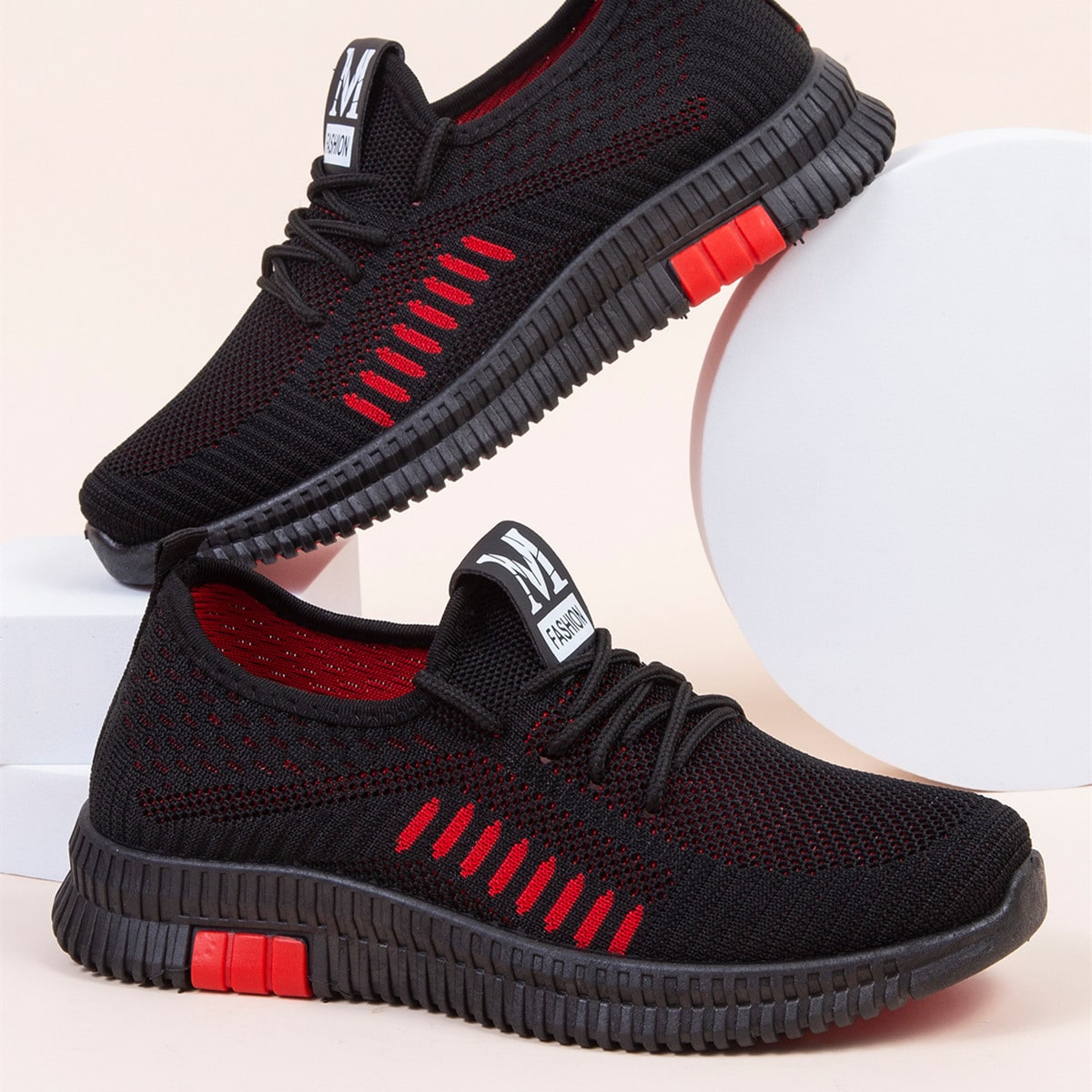 shein Gestreept Sneaker Kant