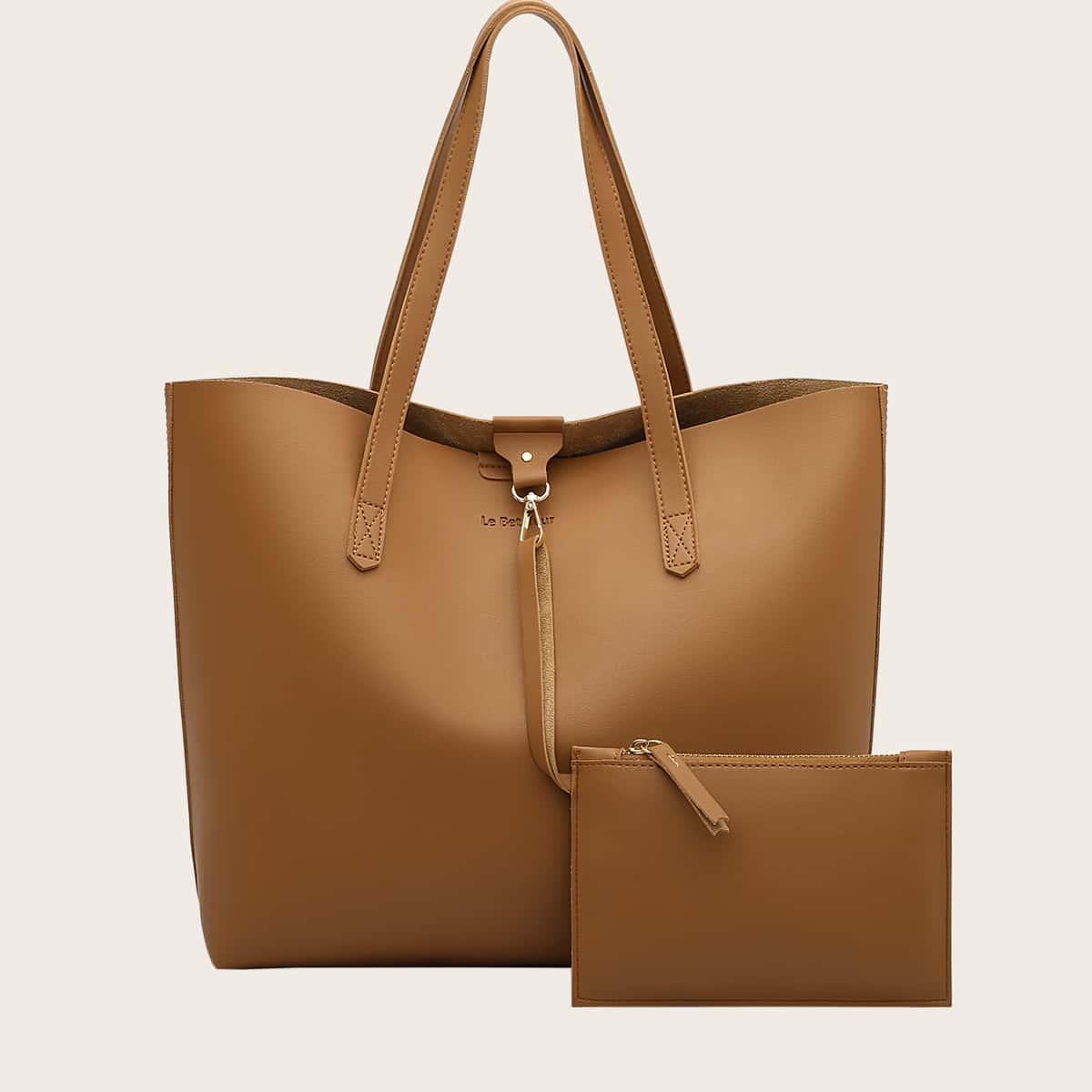 Minimalist Large Capacity Tote Bag With Purse (swbag18200922024) photo
