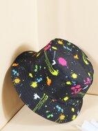 Ink Dot Pattern Reversible Bucket Hat