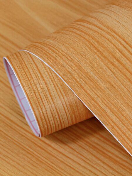 1sheet Wood Grain Pattern Wall Sticker
