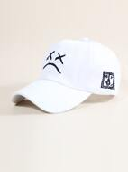 Facial Expression Embroidered Baseball Cap