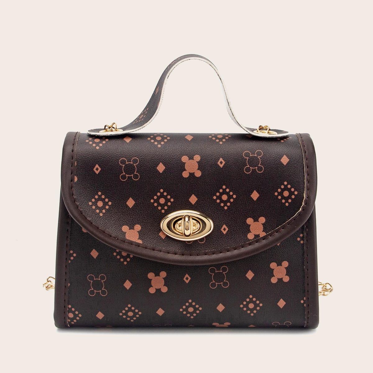 SHEIN / Graphic Pattern Satchel Bag