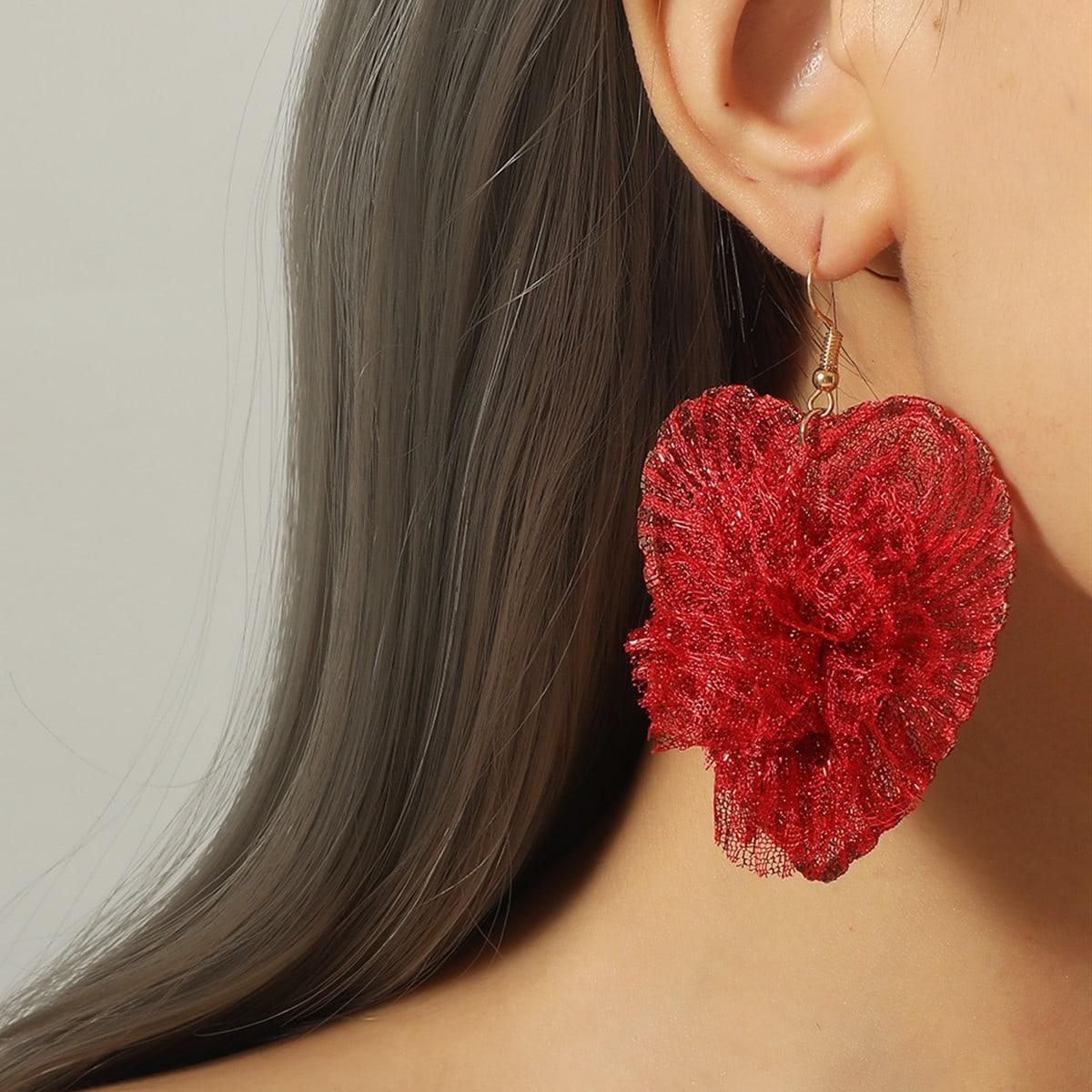 SHEIN / Weihnachten Ohrringe mit Herzen Dekor