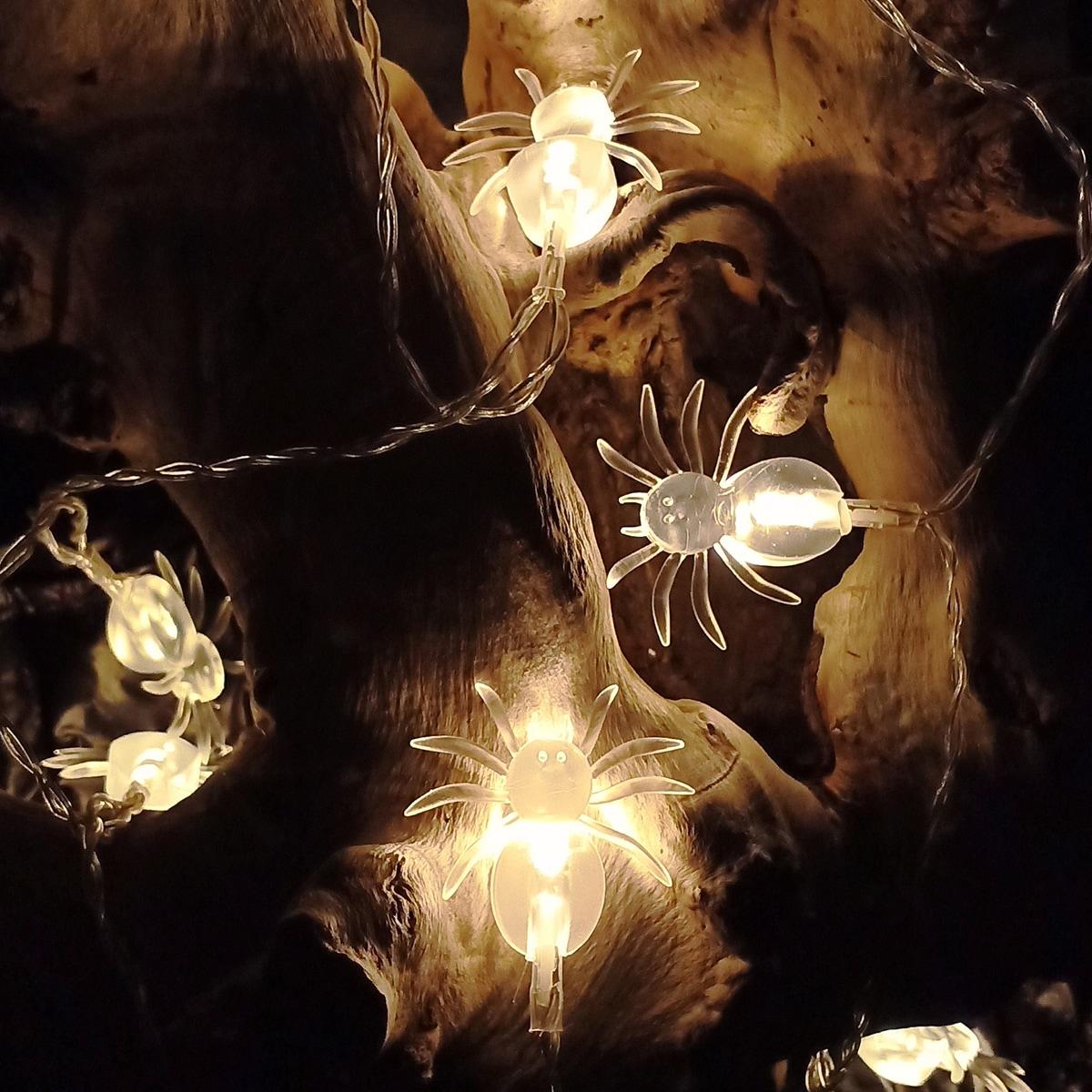 SHEIN / 1 Stück Lichterkette mit 10 Stücken Glühbirnen in Spinnenform