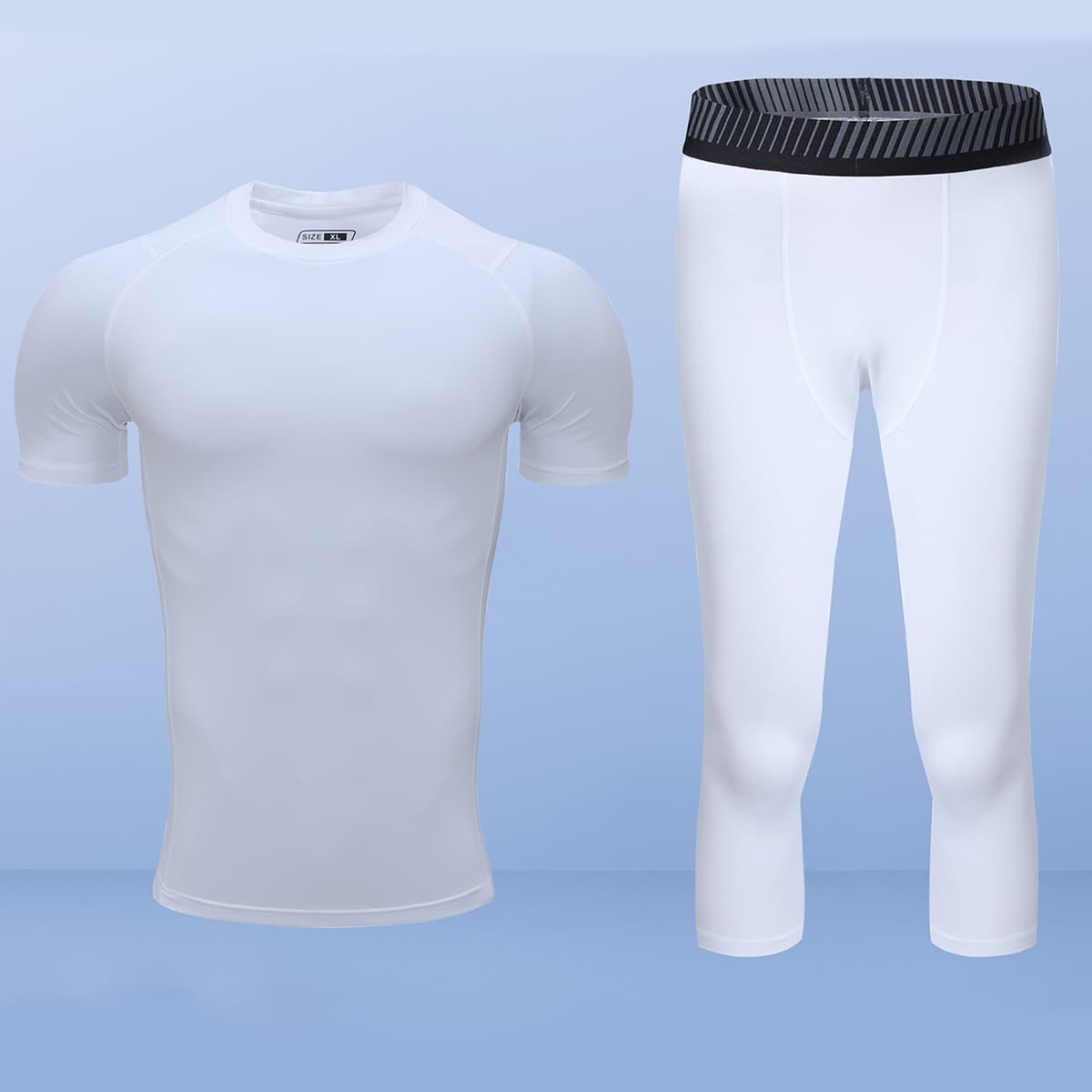 Мужская спортивная футболка и леггинсы
