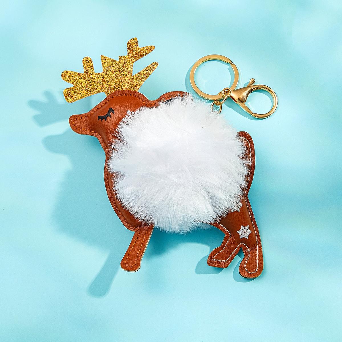 SHEIN / Weihnachten Schlüsselbund mit Hirsch Dekor
