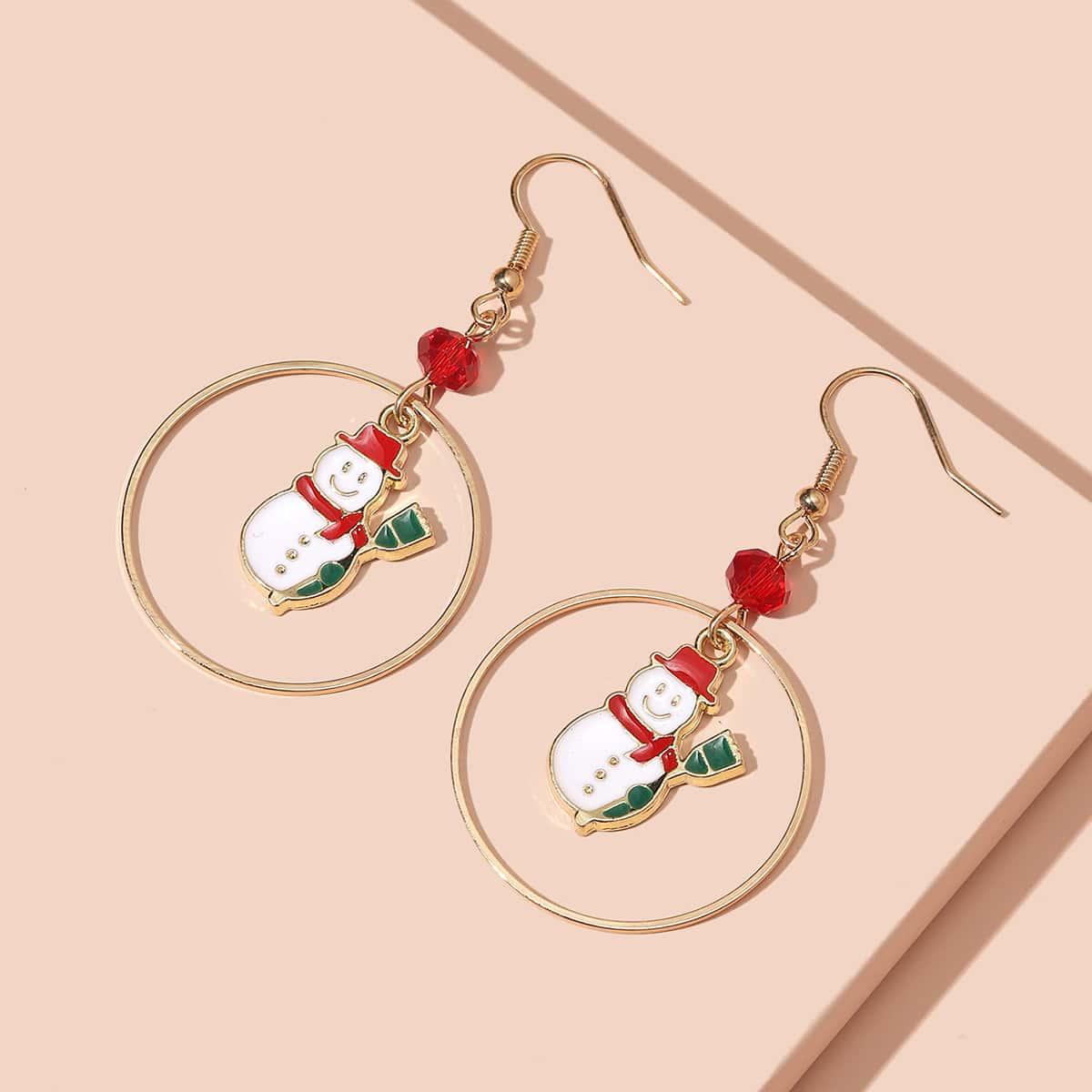 SHEIN / Weihnachten Ohrringe mit Schneemann Dekor