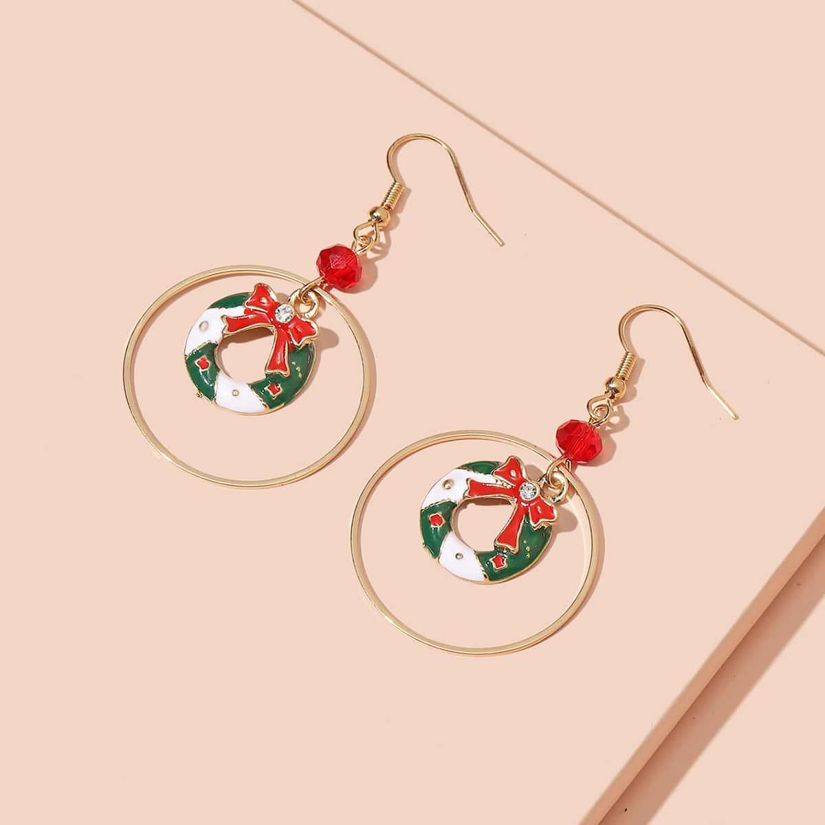 SHEIN / Weihnachten Ohrringe mit Kranz Dekor